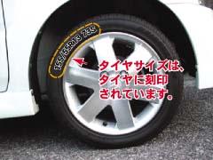 サイズの見方-タイヤの写真